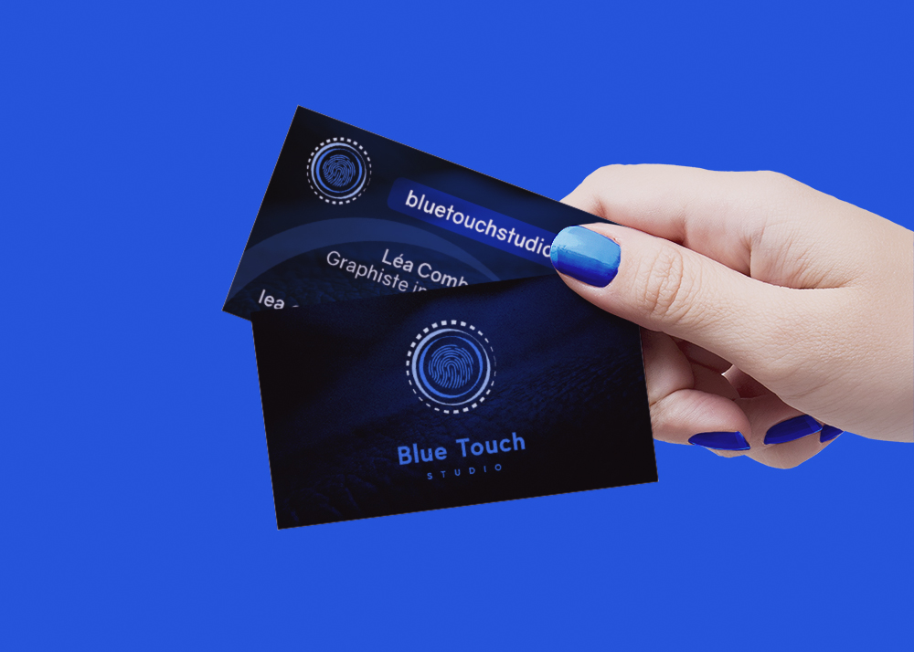 Carte de visite Blue Touch Studio